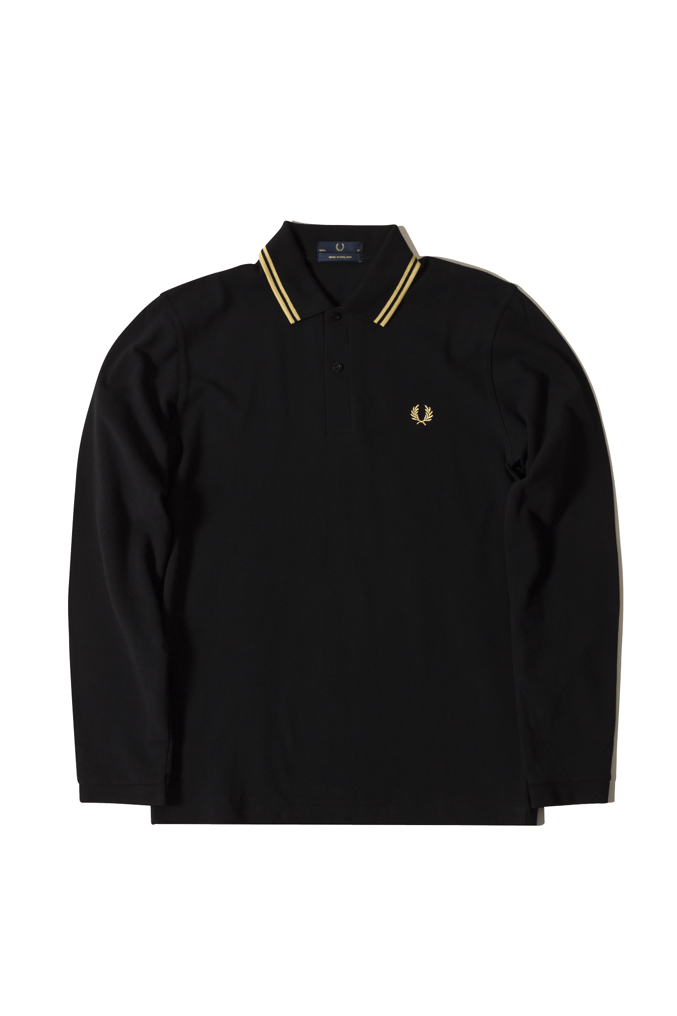 Fred Perry Polo L/S Twin Tipped FP Shirt Black M7115157#000#C0010#44 - One Block Down