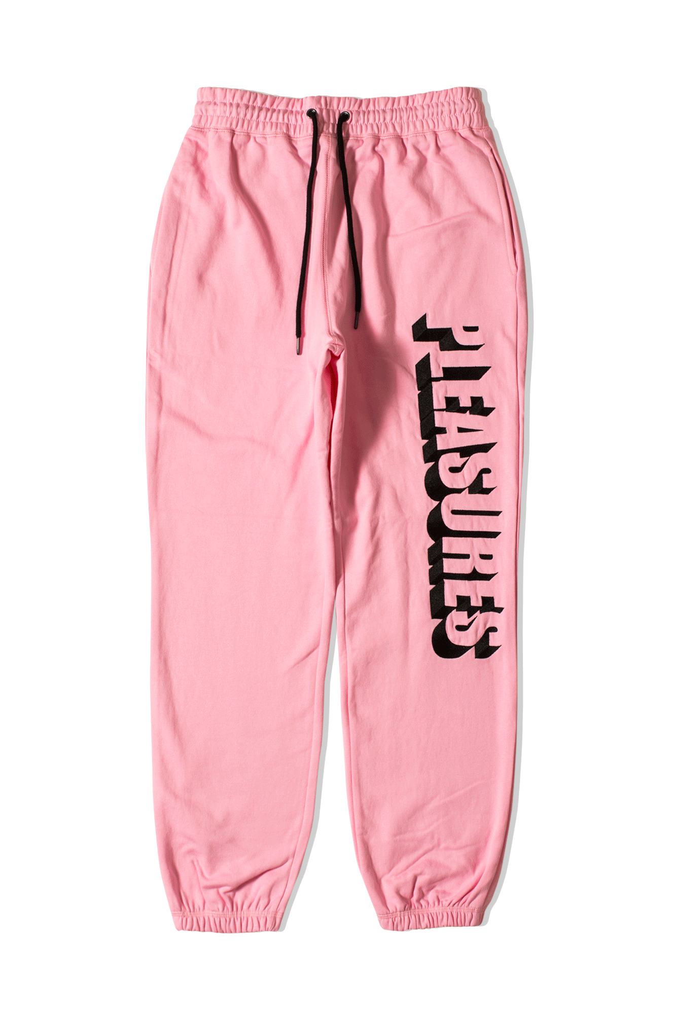 Harvard Embroidered Fleece Pants Pink