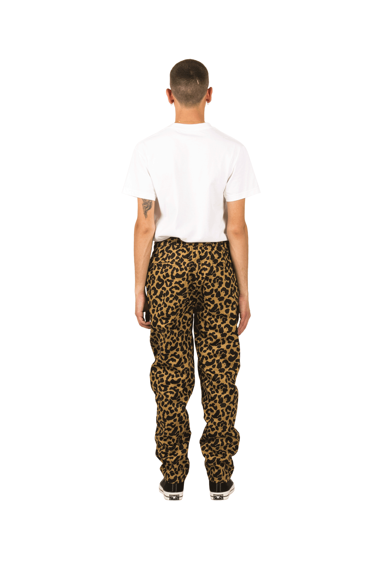 Pleasures Trousers Leopard Beach Pant Brown P19S104010#010#TAN#S - One Block Down