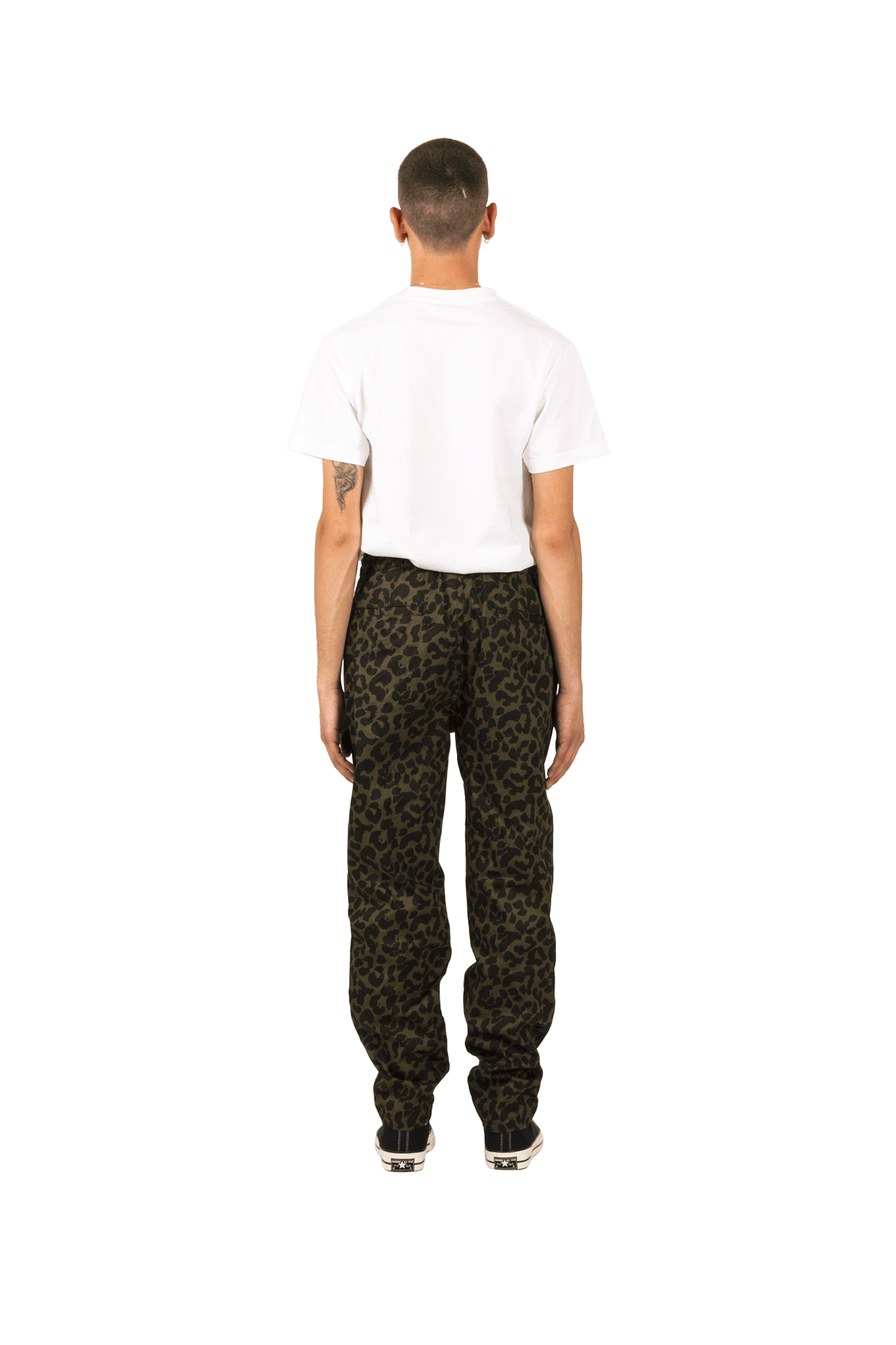 Pleasures Trousers Leopard Beach Pant Green P19S104010#020#GRN#S - One Block Down