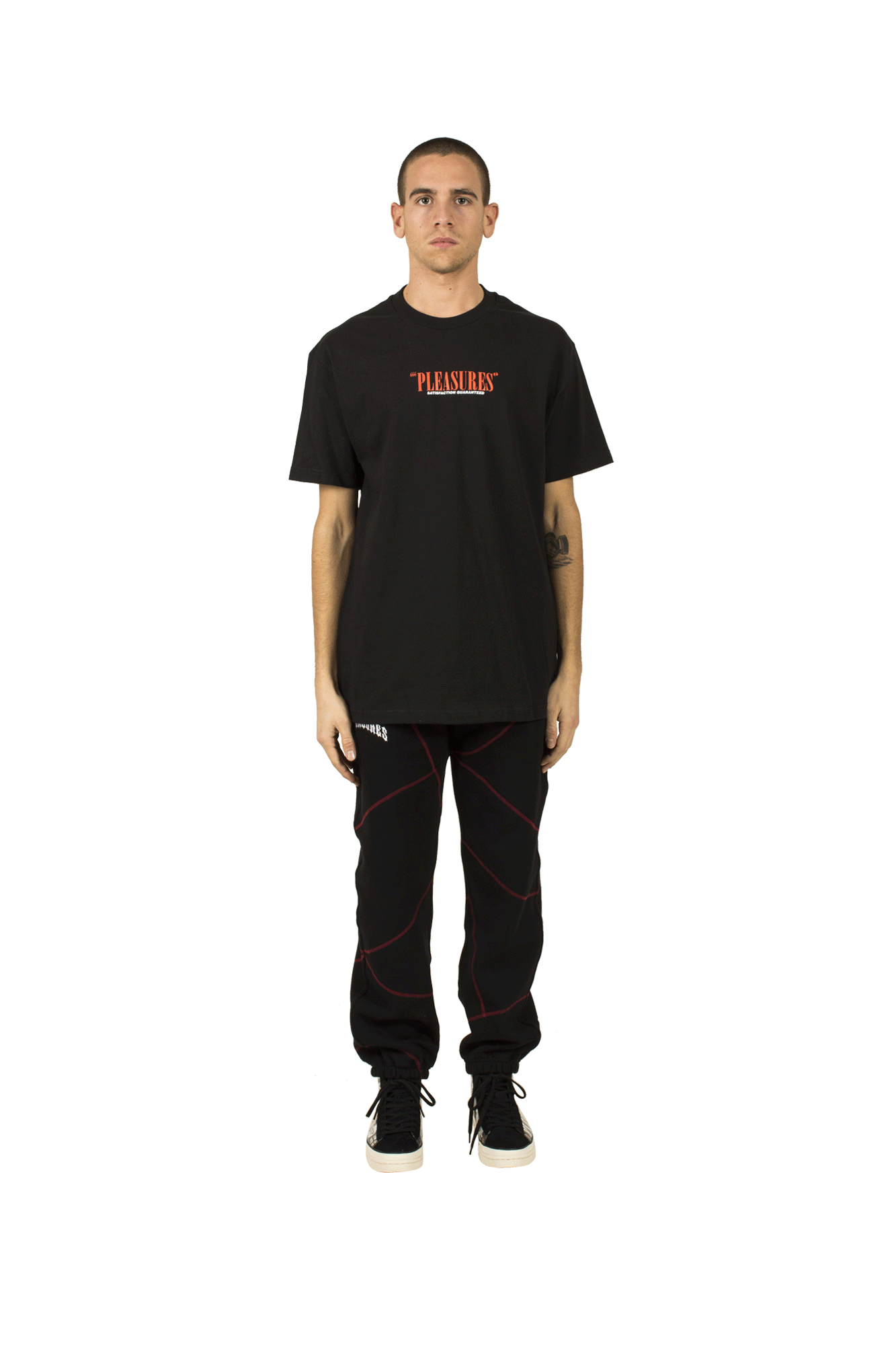 SATISFACTION GUARANTEED T-SHIRT Black