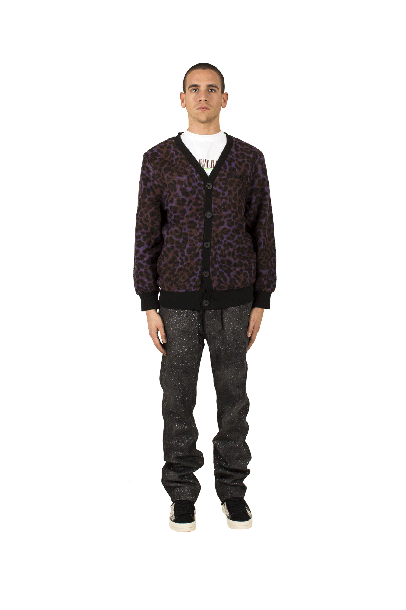 Rotten Mohair Cardigan Purple