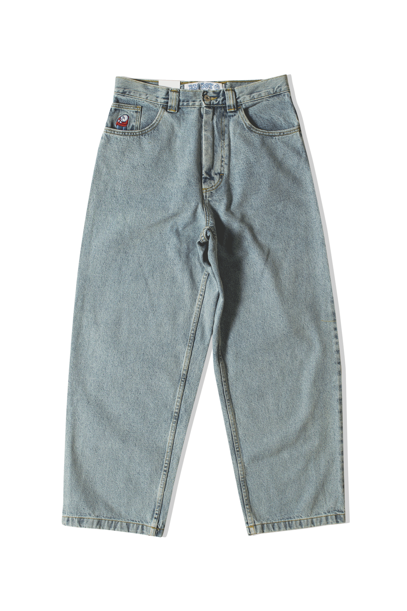 Polar Denim Big Boy Jeans Blue POL-BIGBOY#LBLUE#LBLUE#S - One Block Down