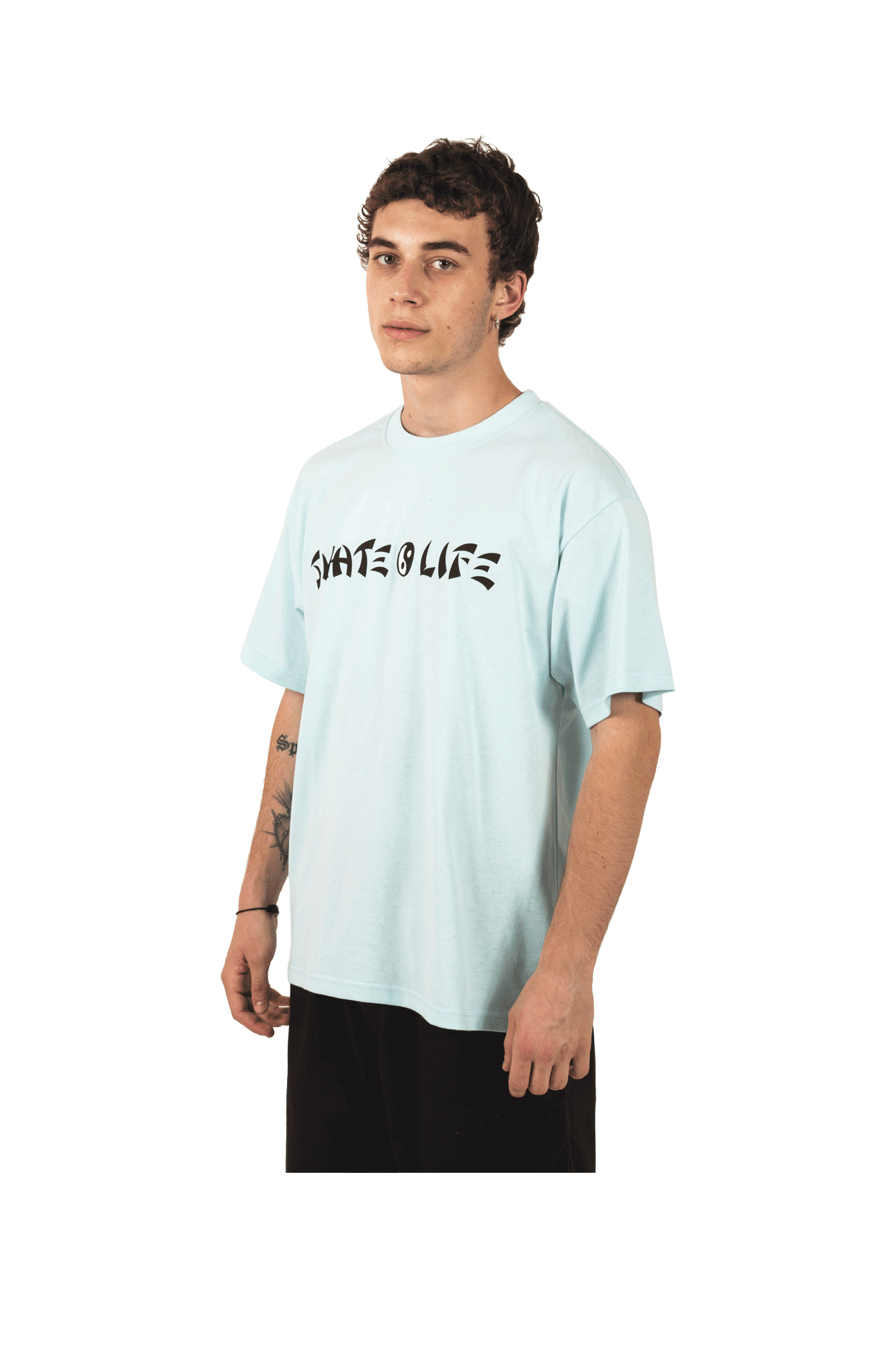 Polar T-Shirts Skatelife Tee Green POL-SKATE#TEE#AQUA#S - One Block Down