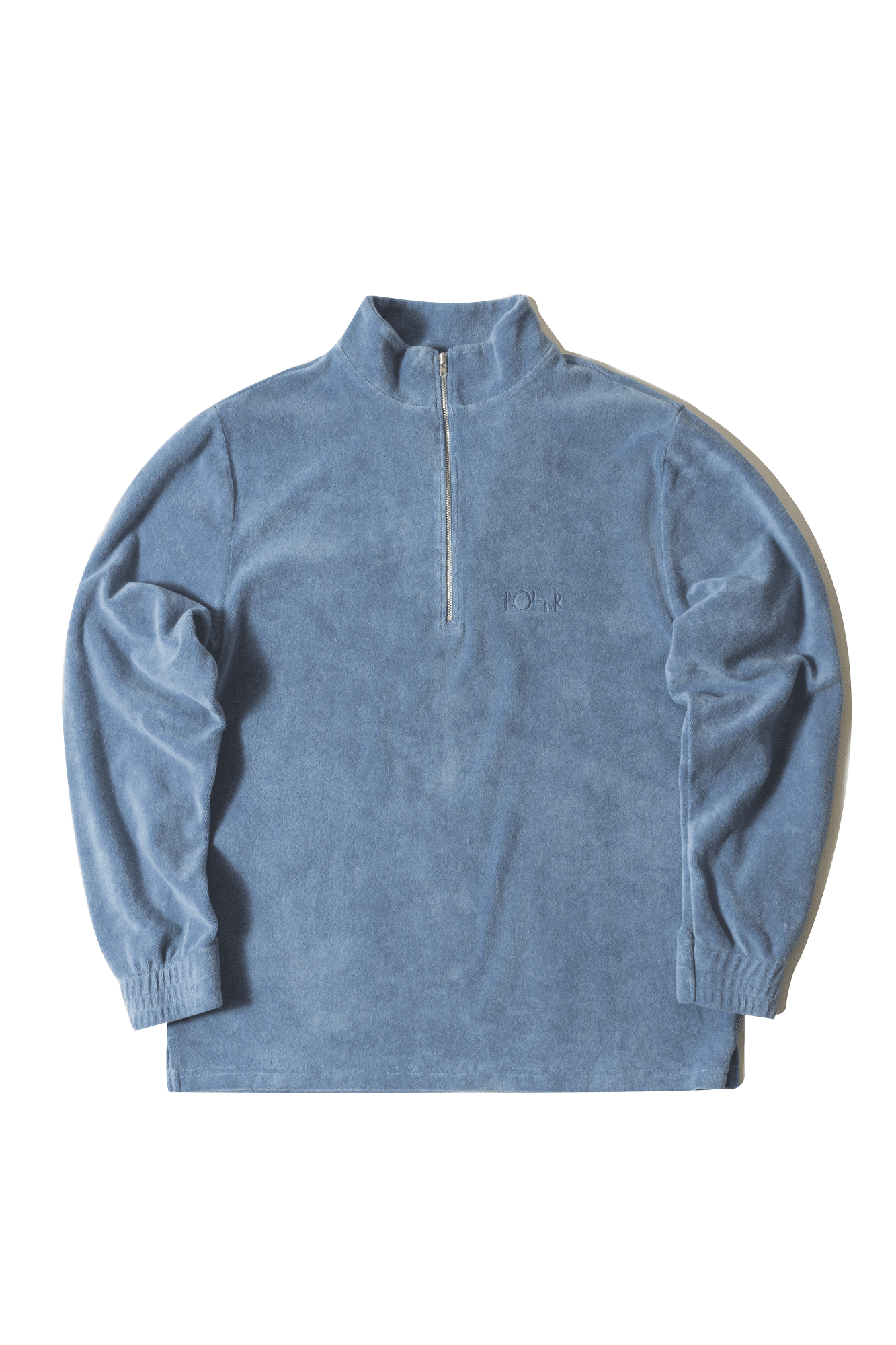 Sweaters Polar Terry Halfzip Blue - One Block Down