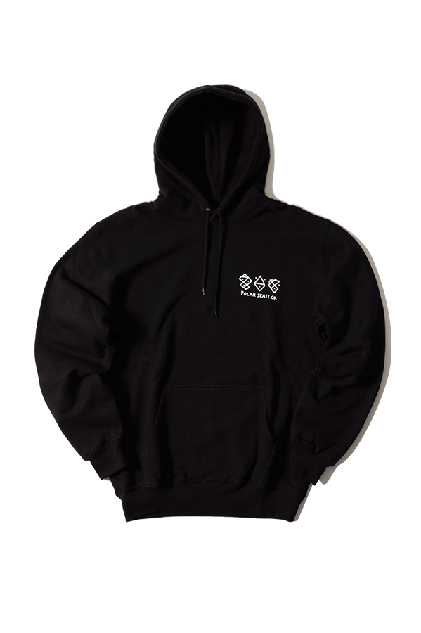 Sweaters Polar Two Sides Hoodie Black - One Block Down
