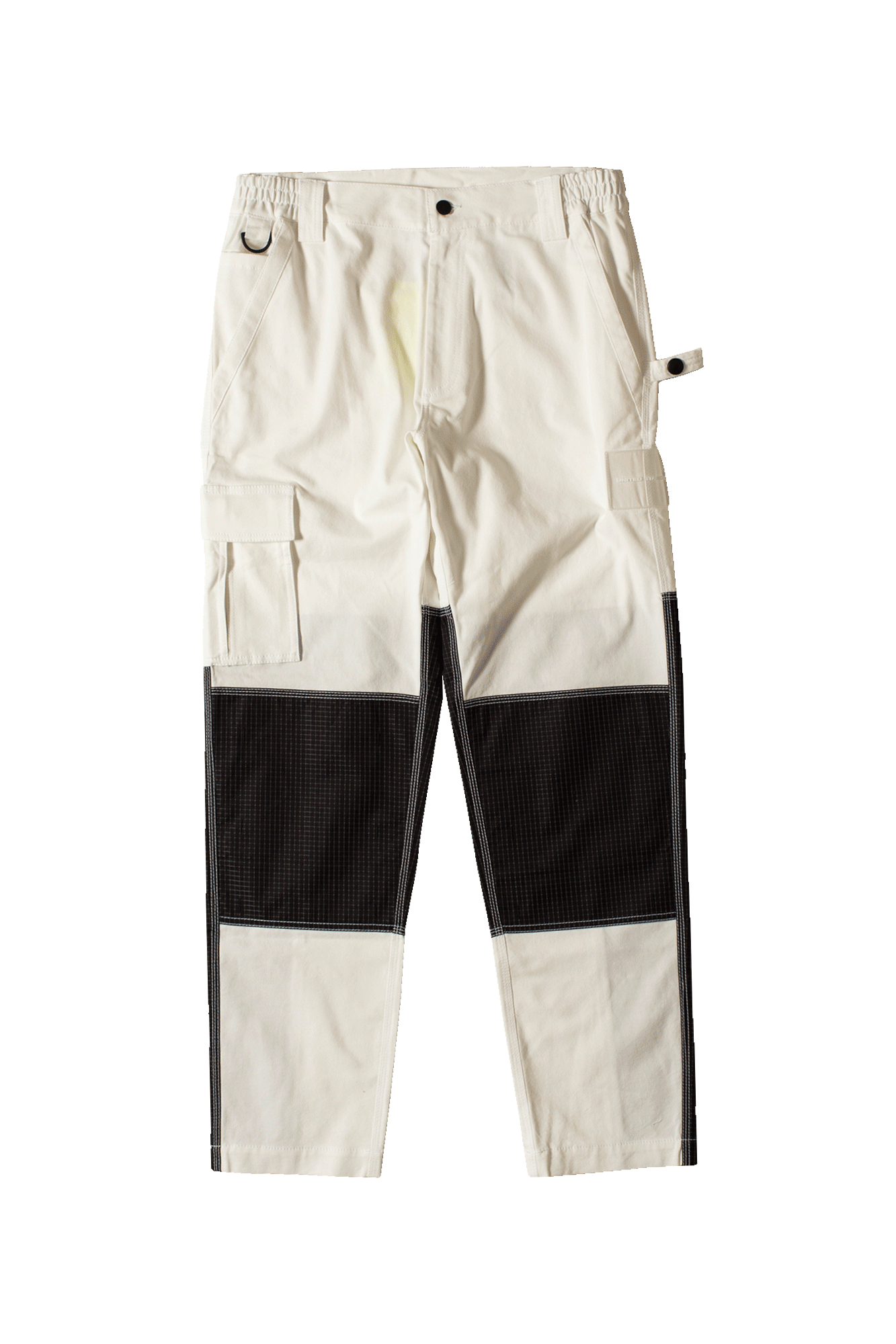 White Robot Cargo Pants White
