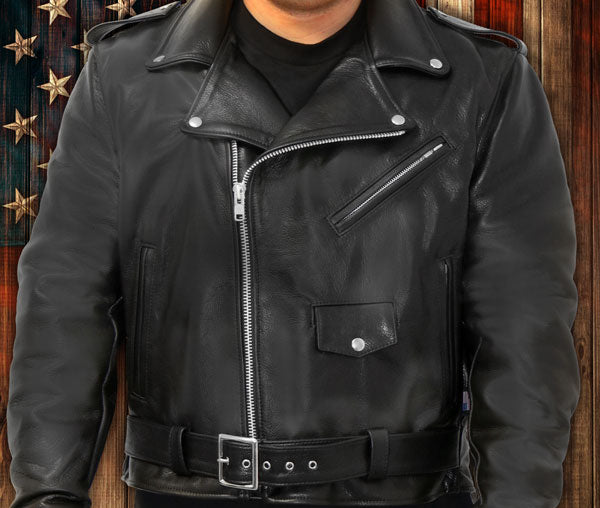 American Made Leather Jackets vest and chaps for men