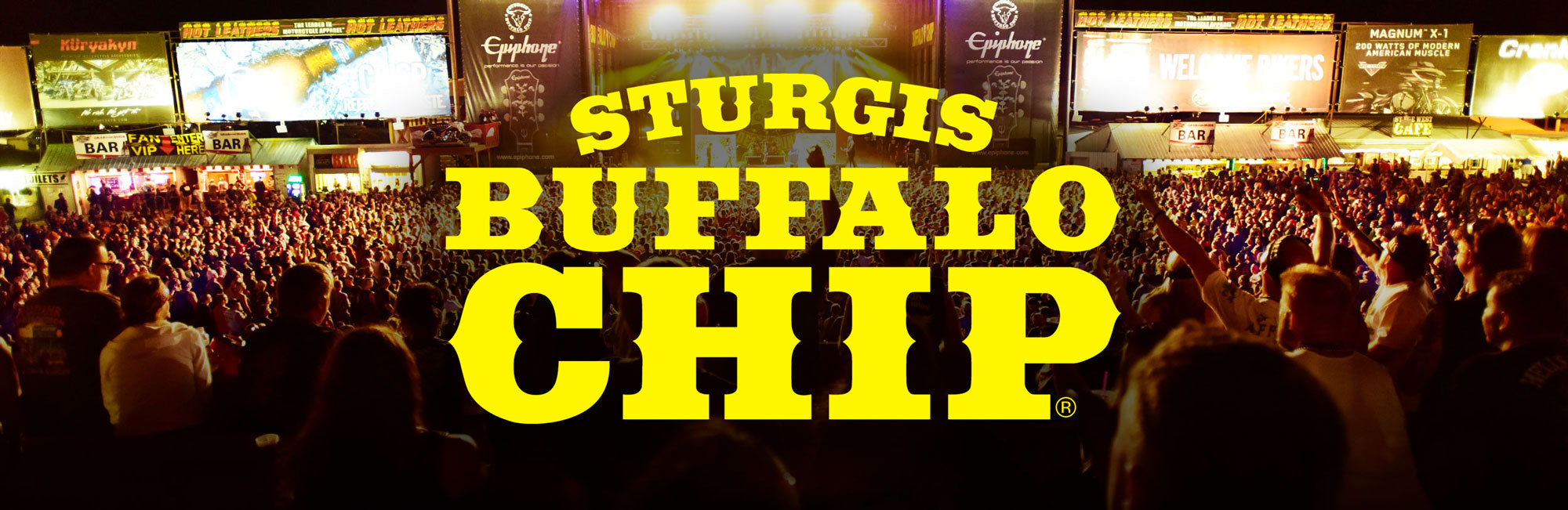 Sturgis Buffalo Chip rally shirts, patches, hats and more