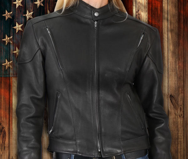 American made ladies leather jacket vests and chaps