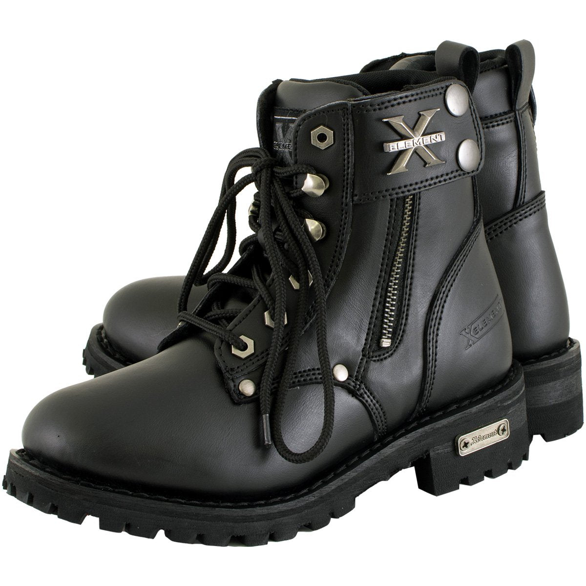 Xelement 2505 'Righteous' Women's Black Zipper Motorcycle Boots - Xelement Womens Footwear