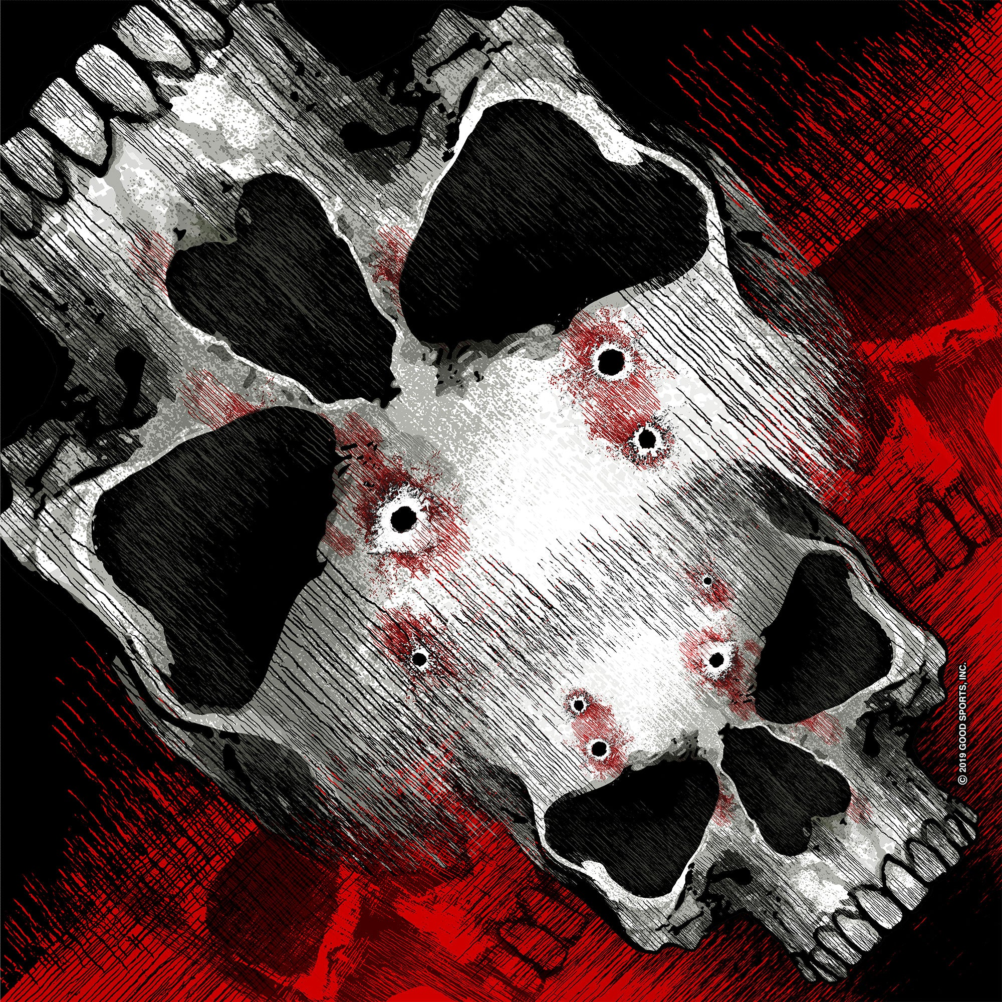 Hot Leathers Jumbo Skull Bandana