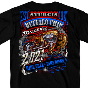 Official 2021 Sturgis Buffalo Chip Web Exclusive Bike T-Shirt
