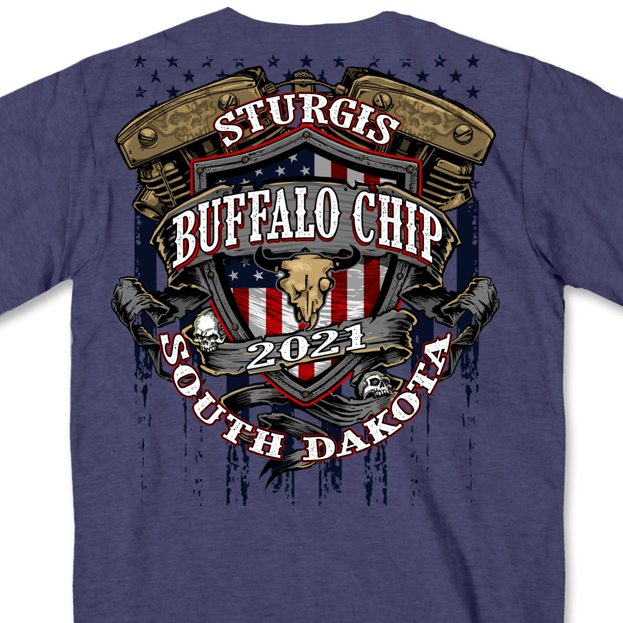 Sturgis 2021 Buffalo Chip Crest T-Shirt