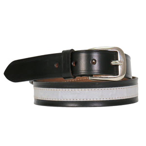 "Hot Leathers 1 1/4"" Leather Reflector Belt"