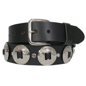 Hot Leathers Heavy Leather Concho Belt