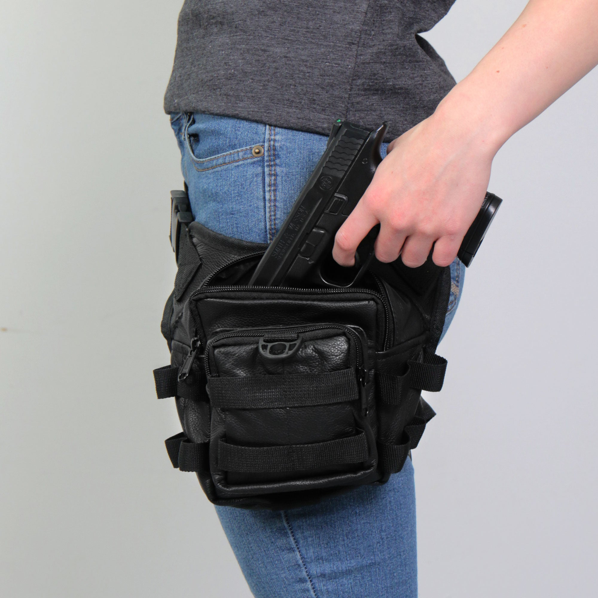 Hot Leathers Concealed Carry Thigh Bag