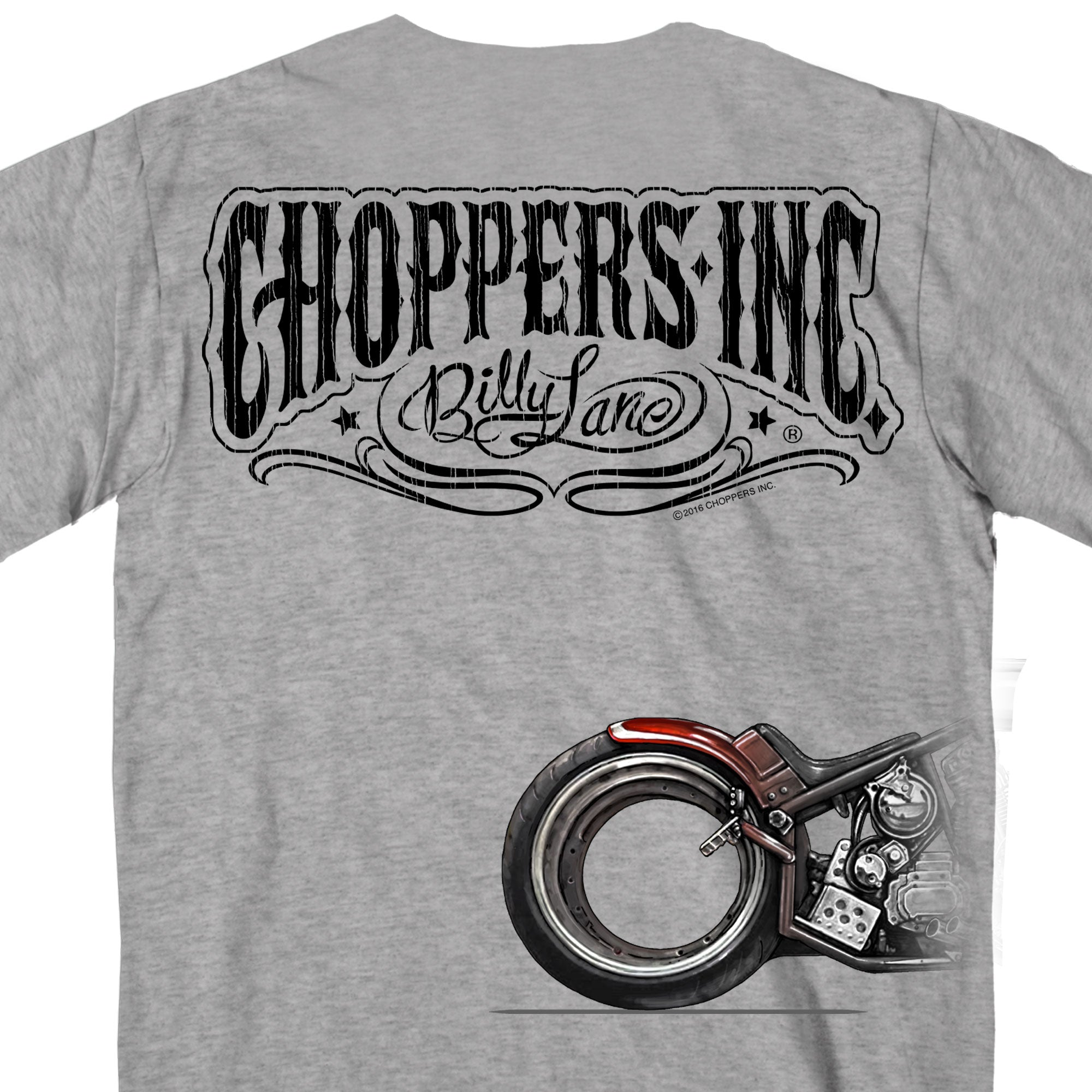 Official Billy Lane's Choppers Ink Bikes Over Time T-shirt