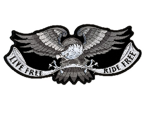 Hot Leathers Patch Live Free Eagle 4""