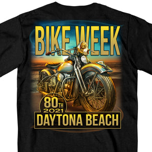2021 Daytona Beach Bike Week Oceanfront Black T-Shirt