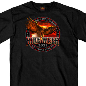 2021 Daytona Beach Bike Week Eagle and Flag Bike T-Shirt