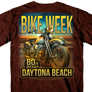 2021 Daytona Beach Bike Week Oceanfront Russet T-Shirt