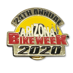 Official 2020 Arizona Bike Week Logo Enamel Pin