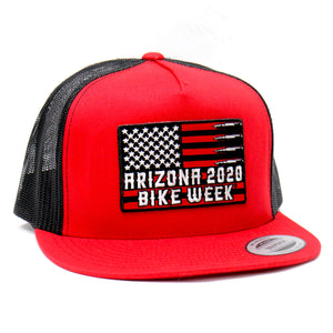 Official 2020 Arizona Bike Week Flag Bullets Trucker Hat