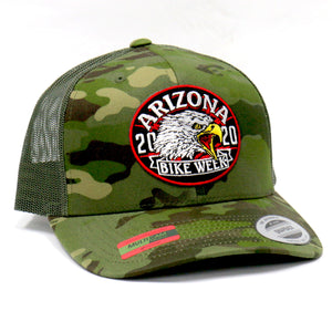 Official 2020 Arizona Bike Week Eagle Yell Camo Trucker Hat