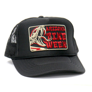 Official 2020 Arizona Bike Week Rattler Trucker Hat