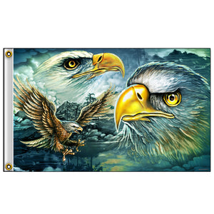 Hot Leathers Flag Eagle Majestic