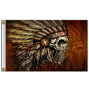 Hot Leathers Headdress Earthtones Flag