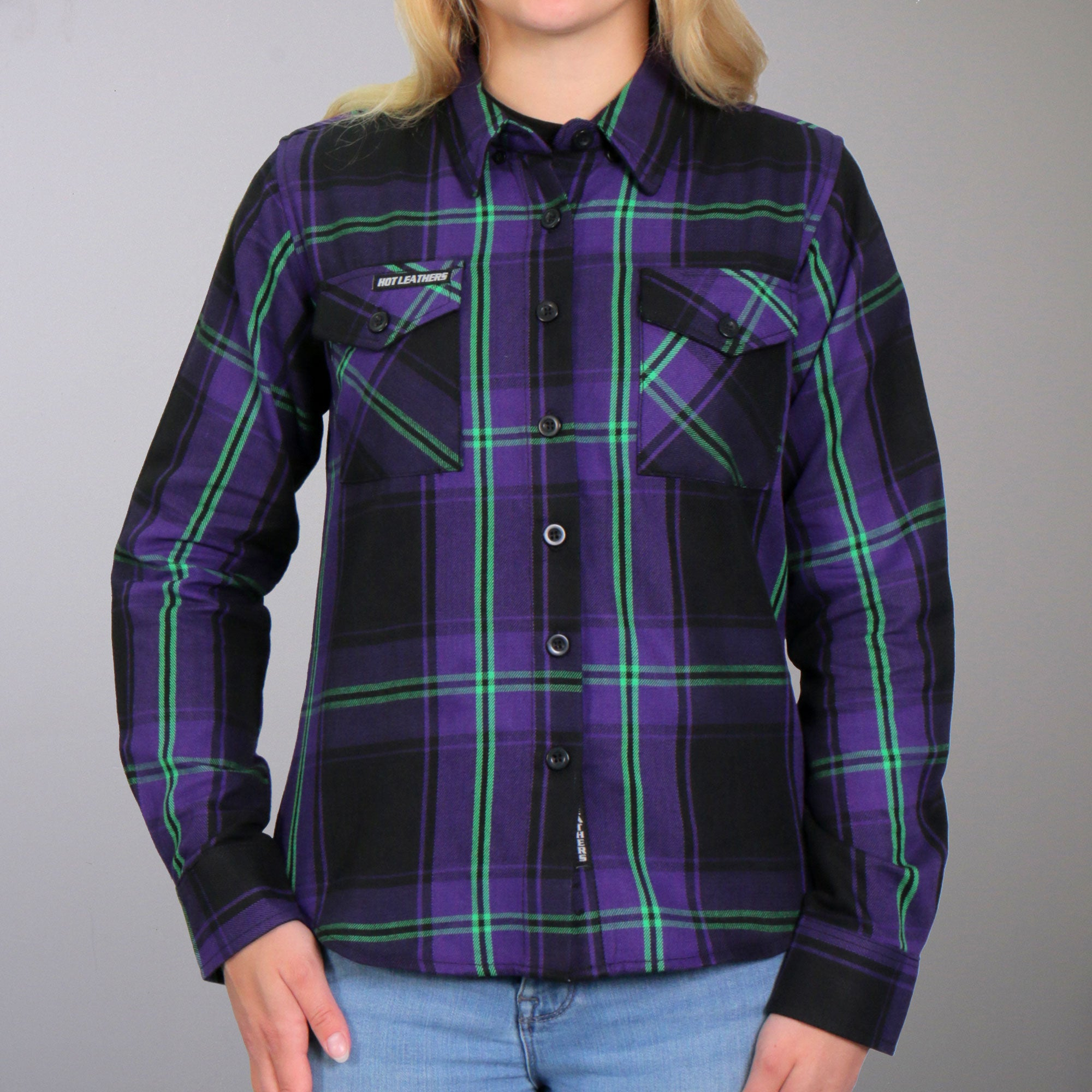 Hot Leathers Flannel Long Sleeve Voodoo