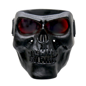 Hot Leathers Black Skull Polypro Face Mask with G-Tech Lenses