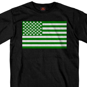 Hot Leathers Shamrock Flag T shirt