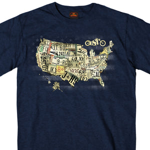 Hot Leathers Short Sleeve USA Map