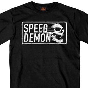 Hot Leathers Short Sleeve Speed Demon Skull