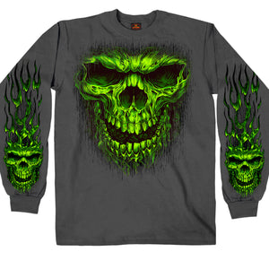 Hot Leathers Shredder Skull Long Sleeve