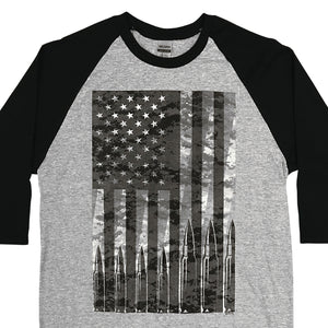 Hot Leathers Flag Bullets Raglan