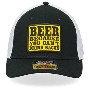 Hot Leathers Trucker Hat Can't Drink Bacon
