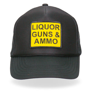 Hot Leathers Liquor Guns Ammo Trucker Hat