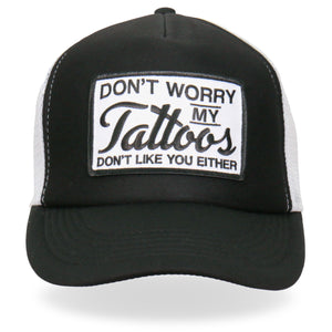 Hot Leathers Don't Worry Tattoo Trucker Hat