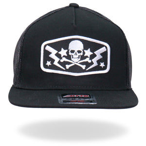 Hot Leathers Skull Bolts Snapback