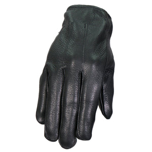 Hot Leathers Black Unlined Deerskin Leather Gloves