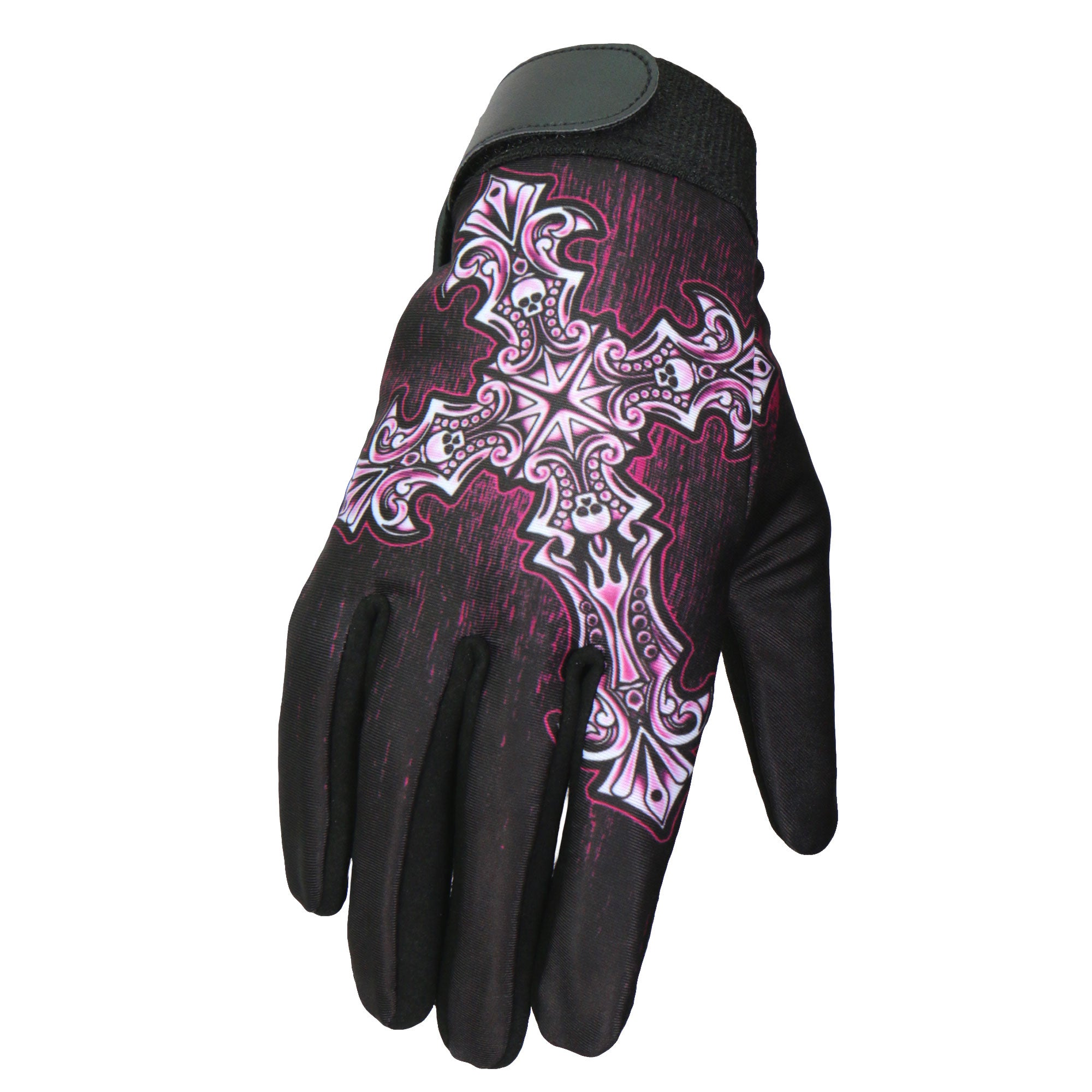Hot Leathers Glove Sublimated Gothic Cross