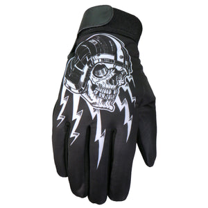 Hot Leathers Glove Sublimated 3/4 Skull