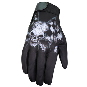 Hot Leathers Glove Sublimated Checkered Flags