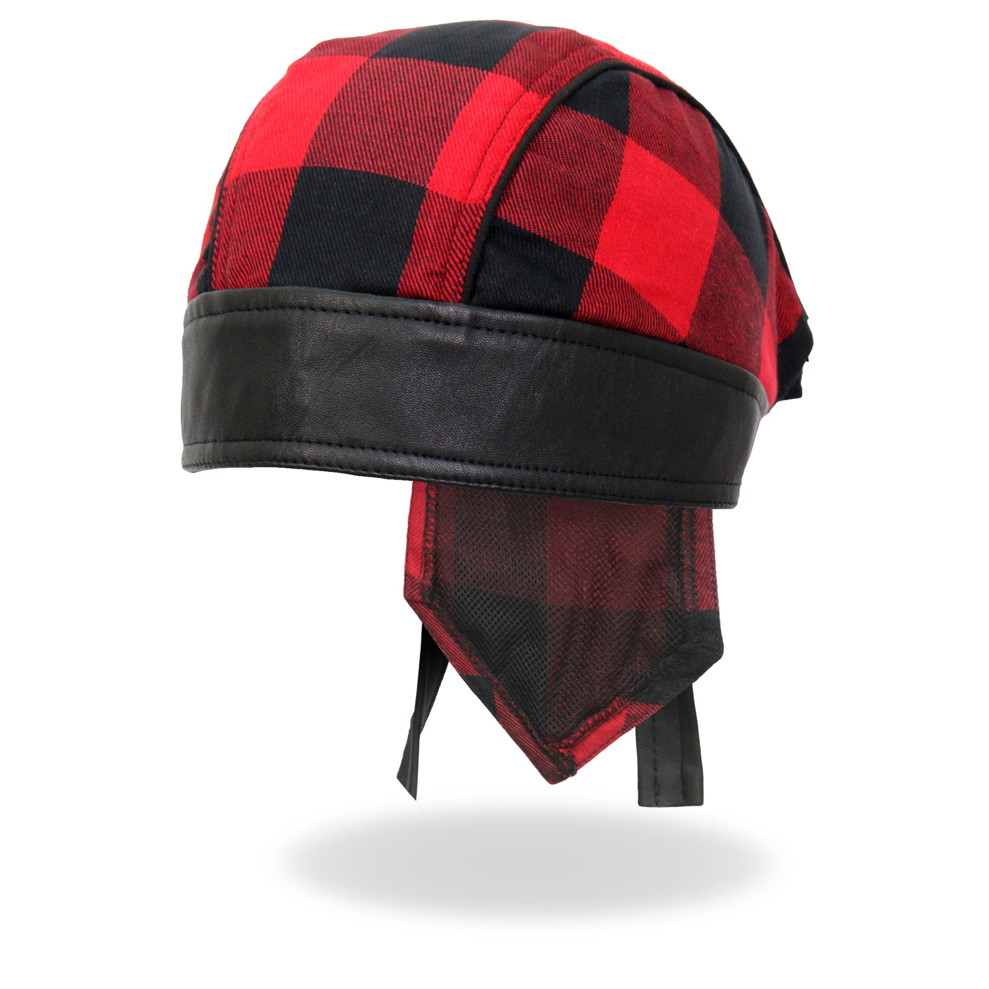 Hot Leathers Headwrap Red Buffalo Plaid