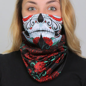 Hot Leathers Sugar Skull Neck Gaiter Mask