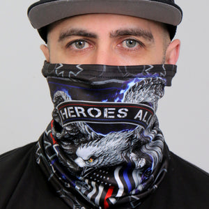 Hot Leathers Thin Line Eagle Neck Gaiter Mask